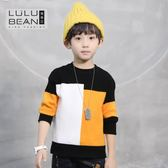 韓國兒童針織衫男童毛衣套頭秋冬裝中大童條紋打底毛線衣水晶鞋坊