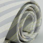 【Alpaca】灰底銀點緹花斜紋領帶