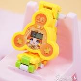 兒童手錶-卡通幼兒童可愛女孩魔法積木電子手錶 提拉米蘇