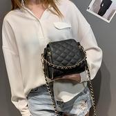斜背包包2020高級感包包洋氣新款2020流行包包時尚斜背百搭ins菱格鍊條包 嬡孕哺