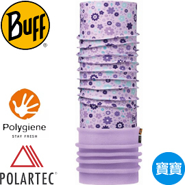 【BUFF 西班牙 寶寶 紫花朵朵 POLAR保暖頭巾】113409/秋冬款/口罩/圍巾/自行車領巾/脖圍