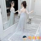 女童連衣裙兒童公主裙生日禮服艾莎長裙冰雪奇緣【淘嘟嘟】