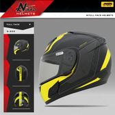 [安信騎士] Nikko NK-805 NK805 #3 平黑黃 全罩 安全帽 內襯全可拆 免運 送好禮二選一