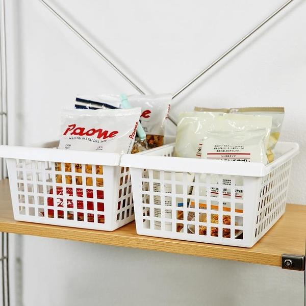 尺寸超過45公分請下宅配日本進口加厚大塑料收納籃廚房浴室桌面收納盒長方形置物籃整理筐