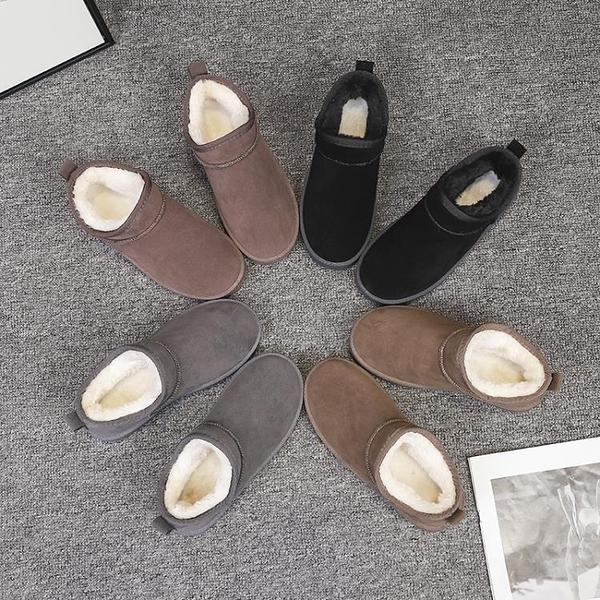 短靴女新款加絨雪靴