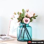 插花玻璃瓶大號北歐水培家居干花裝飾花瓶擺件客廳【探索者】