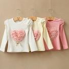 韓版《花朵愛心款》甜美長袖上衣