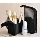 立體式收納包 網狀立式拉鏈 化妝包(不含刷具)手拿包可站立 收納筒 刷桶 筆筒