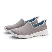 SKECHERS 休閒鞋 GO WALK JOY 淺卡其 水藍 透氣 懶人鞋 女 (布魯克林) 124091TPBL