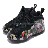 Nike Little Posite One Prm PS Floral 黑 彩色 花卉圖騰 太空鞋 童鞋 中童鞋【PUMP306】 AT8249-001