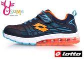 LOTTO運動鞋 童 鳳凰展翼輕量氣墊慢跑鞋L8639#丈青◆OSOME奧森童鞋/小朋友