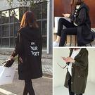 韓版春裝風衣女中長款顯瘦寬鬆薄款外套學生女裝「Chic七色堇」