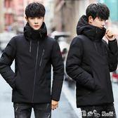 冬季新款棉衣青少年男士韓版修身短款羽絨棉服男外套潮流   潔思米