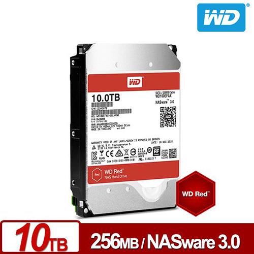 WD 紅標 10TB 3.5吋 NAS 氦氣封裝硬碟 WD100EFAX