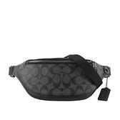 【COACH】PVC+皮革腰包(小)(黑灰色)  F84711 QBMI5