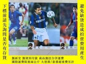 二手書博民逛書店罕見德科,足球俱樂部2006年歐洲金球獎標靶系列球星卡打包出售。圖中菲戈和皮