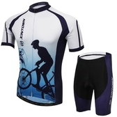 自行車衣-(短袖套裝)-時尚舒適親膚速乾男單車服套裝73er46【時尚巴黎】