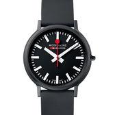 MONDAINE 瑞士國鐵stop2go經典腕錶-40mm/黑 512864