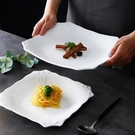 西餐盤 創意牛排盤子純白西餐盤方盤家用陶瓷平盤點心碟酒店西式餐具淺盤【快速出貨八折鉅惠】