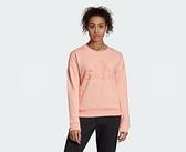 Adidas MH BADGE OF SPORT SWEATSHIRT 女款粉色長袖上衣-NO.EB3814