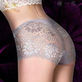 3條裝性感透明蕾絲無痕大碼中腰三角褲