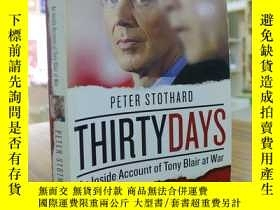 二手書博民逛書店PETER罕見STOTHARD:THIRTY DAYS-Tony
