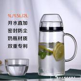 夏天冰箱防爆耐熱耐高溫家用玻璃冷水壺密封涼白開水壺帶蓋水杯子『韓女王』