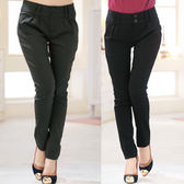 中大尺碼~彈力棉長褲(XL)