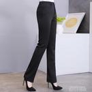 2020女西褲 職業西裝褲面試工作正裝褲 直筒 修身口袋長褲子 黑色 依凡卡時尚