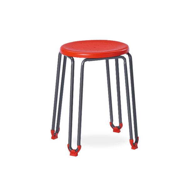 蘋果紅造型圓椅凳(18SP/384-8)【DD House】