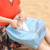 ✭慢思行✭【N235】分層乾濕手提收納包 防水 媽媽包 收納包 旅遊 出差 出國 沙灘 海邊