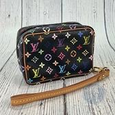 BRAND楓月 LOUIS VUITTON M58034 黑色 彩色 原花 小包 零錢包 鑰使包 隨身包