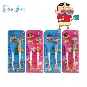 韓國進口蠟筆小新筆套1+1兒童抗菌牙刷(1入)