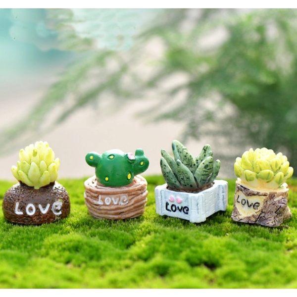 ⓒ仿真多肉植物小盆栽(4款) 創意微景觀居家裝飾【A003015】