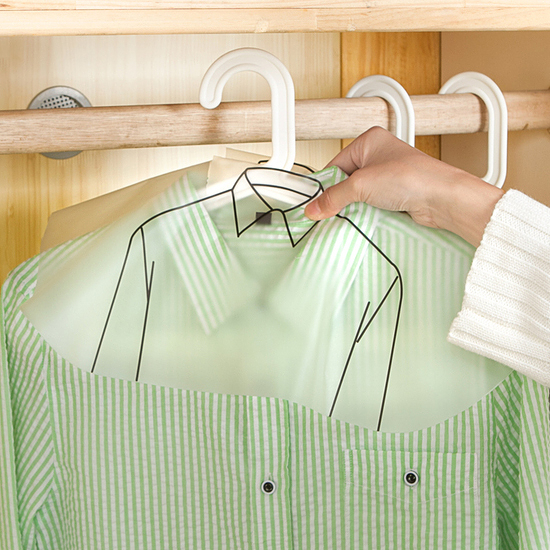 加厚半包衣物防塵罩 透明 襯衫 外套 上衣 褲款 服裝 衣櫃 掛袋 肩領 裙 米菈生活館【F051】