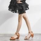 拉丁舞鞋兒童女孩女童軟底中高跟少兒初學者成人舞蹈鞋練功鞋PH1436【3c環球位數館】