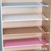 衣櫃收納分層隔板櫃子免釘置物架櫥櫃浴室分隔層架 生活樂事館