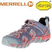 MERRELL 美國 女款 水陸兩棲健行登山鞋《淺灰/紅》休閒鞋/登山鞋/運動鞋/溯溪 37550
