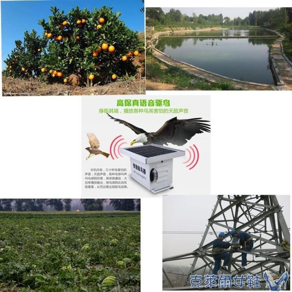 驅鳥器太陽能超聲波魚塘果園農田趕鳥嚇鳥多功能智慧戶外專用神器