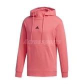 adidas 長袖T恤 U2 HS FLC 桃紅 黑 男款 帽T 運動休閒 反光Logo 【ACS】 FJ0178