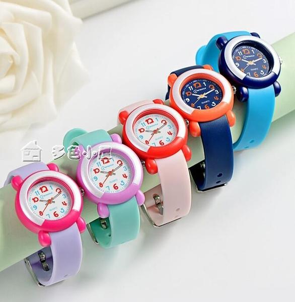 學生手錶名瑞兒童手錶女孩可愛簡約石英錶小童手錶防水可游泳男孩電子手錶 快速出貨