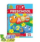 [美國直購]學前班練習冊 School Zone - Big Preschool Workbook - Ages 4 and Up, Colors, Shapes, Numbers 1-10