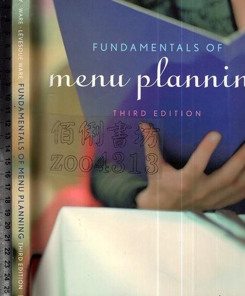 二手書R2YB《FUNDAMENTALS OF menu planning 3e