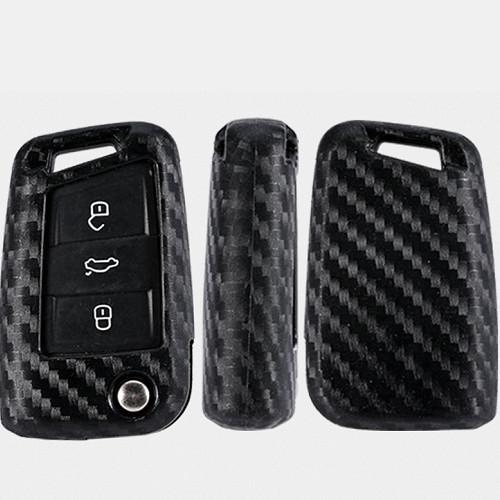 VW 碳纖鑰匙套 GOLF GTI TIGUAN T5 POLO CADDY PASSAT 沂軒精品 A0472-1
