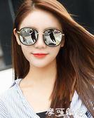 新款網紅墨鏡女韓版潮明星圓臉太陽鏡偏光眼鏡復古原宿風 摩可美家