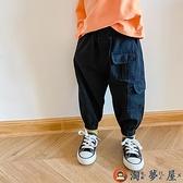 兒童工裝褲男童寶寶束腳休閒褲韓版寬鬆長褲【淘夢屋】