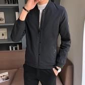 2018新款男士夾克外套春秋韓版修身夾克帥氣男裝茄克休閒立領棒球服潮