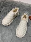 平底鞋 棉鞋女冬加絨新款百搭平底秋冬防滑保暖鞋子面包加厚雪地靴 交換禮物