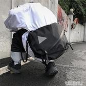 韓國ins復古街頭潮人小眾長束帶單肩斜挎包摺疊男女潮 名購居家