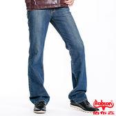 【BOBSON】男款輕刷白低腰喇叭褲(藍53)